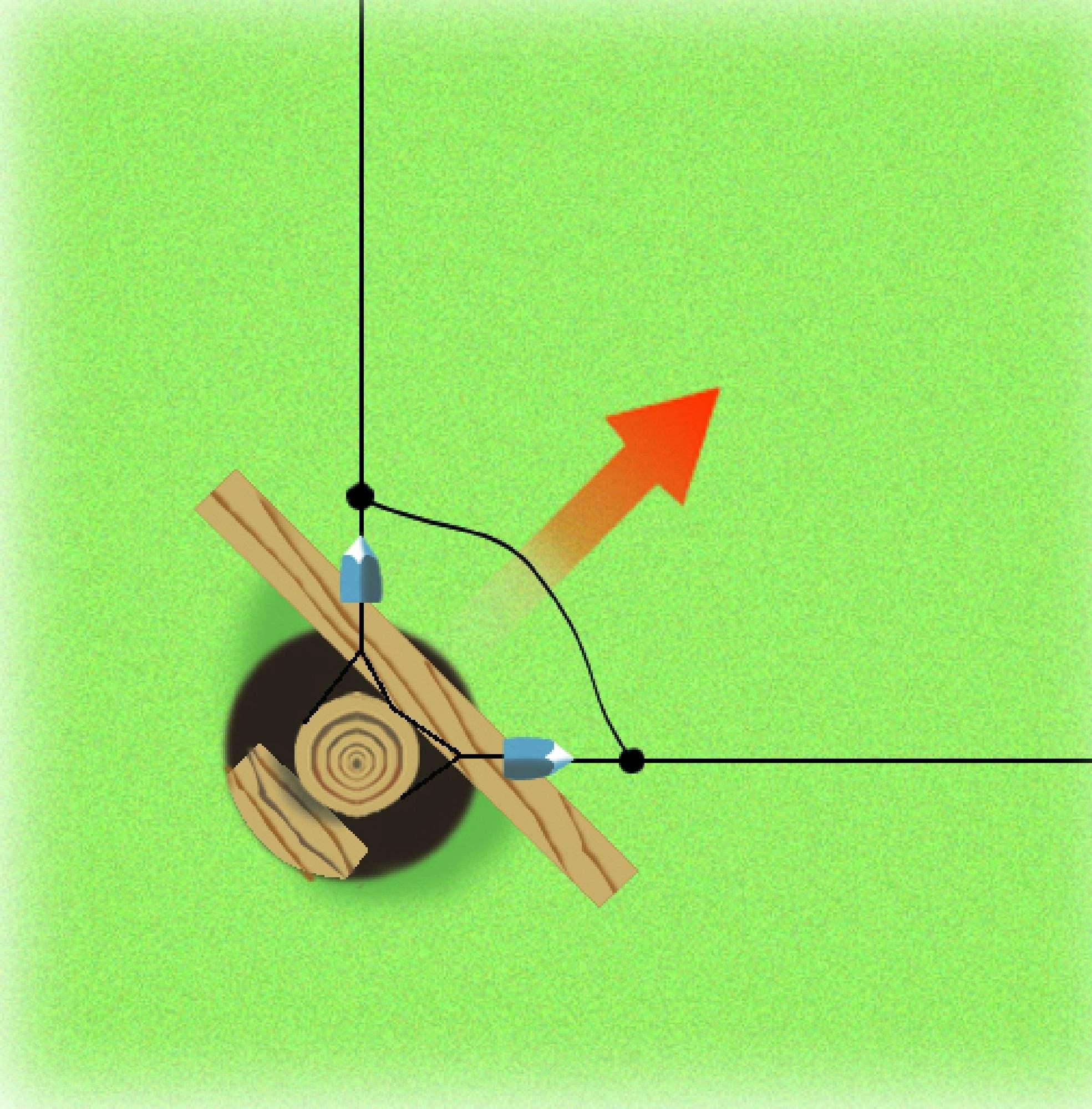 piquet bois rond point pour angle diam 16 18 mm patura. Black Bedroom Furniture Sets. Home Design Ideas