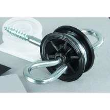 Isolateur double ancrage de portillon acier inox