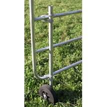 Roue d'appui pour portails de clôture réglables