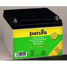 Batterie 12 v pour petit électrificateur de clôture Patura