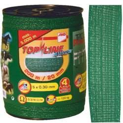 Ruban de clôture électrique vert gamme pro