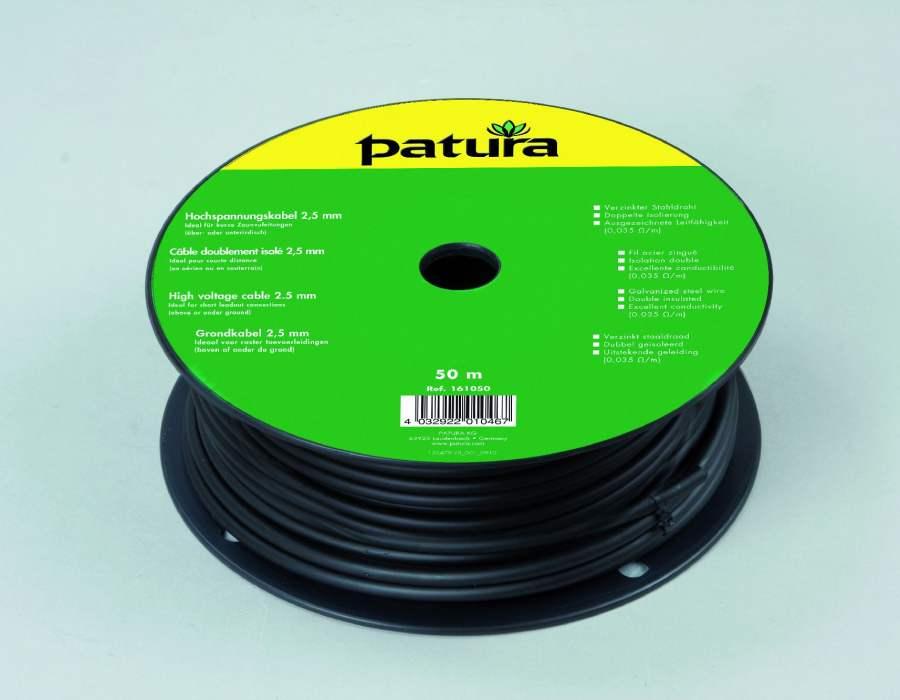 cable haute tension pour cl ture lectrique 2 5 mm patura. Black Bedroom Furniture Sets. Home Design Ideas