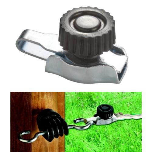 raccord pour cordelette de cl ture ako connecteur pour fil et cordelette accessoires pour. Black Bedroom Furniture Sets. Home Design Ideas